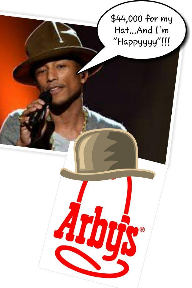 1d58b04e65be1 Pharrell s Hat Sells On Ebay For Over  44