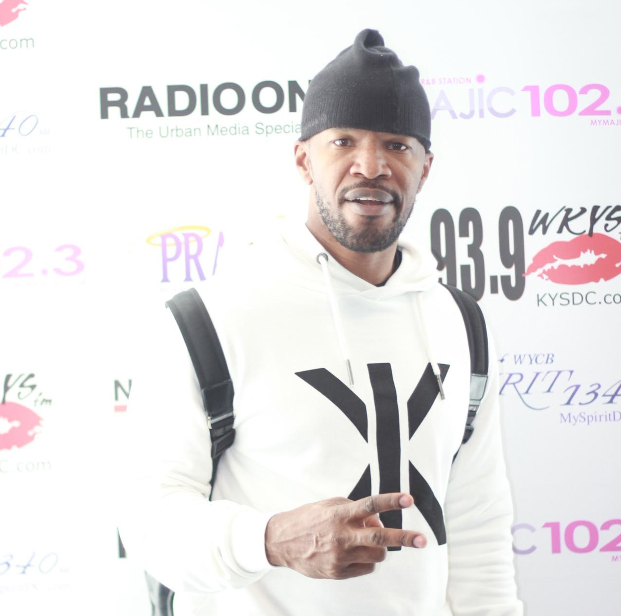 Jamie Foxx Visits Radio One DC