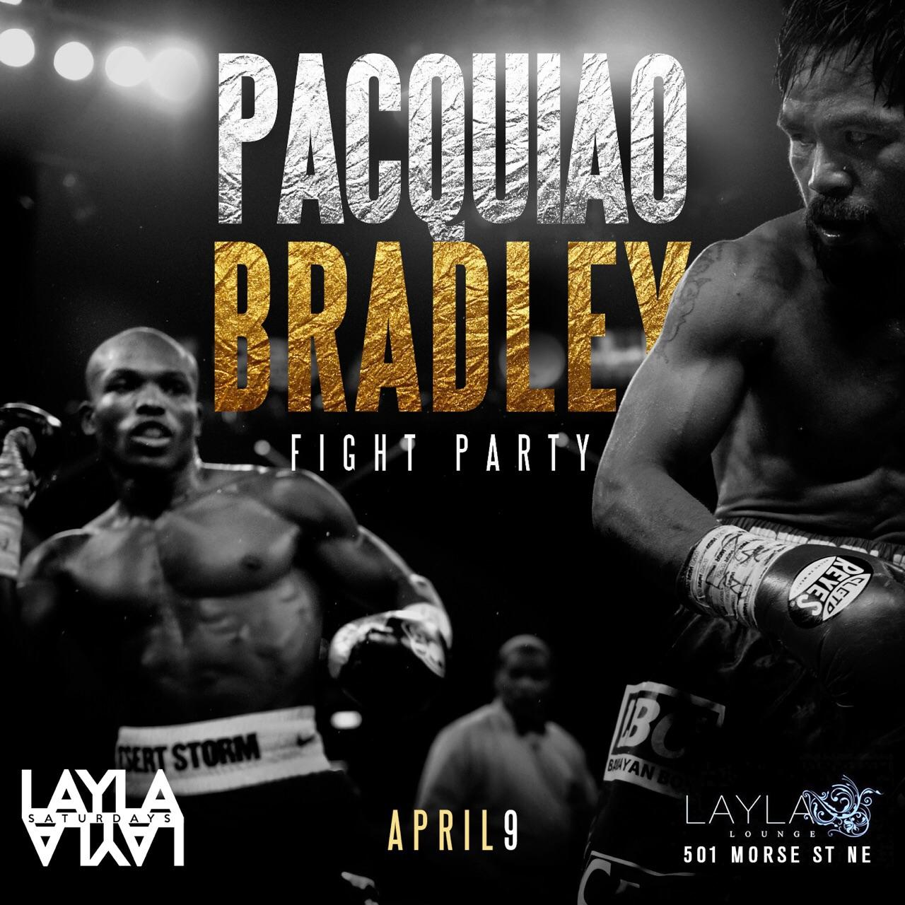 Pacquiao Bradley Fight Party