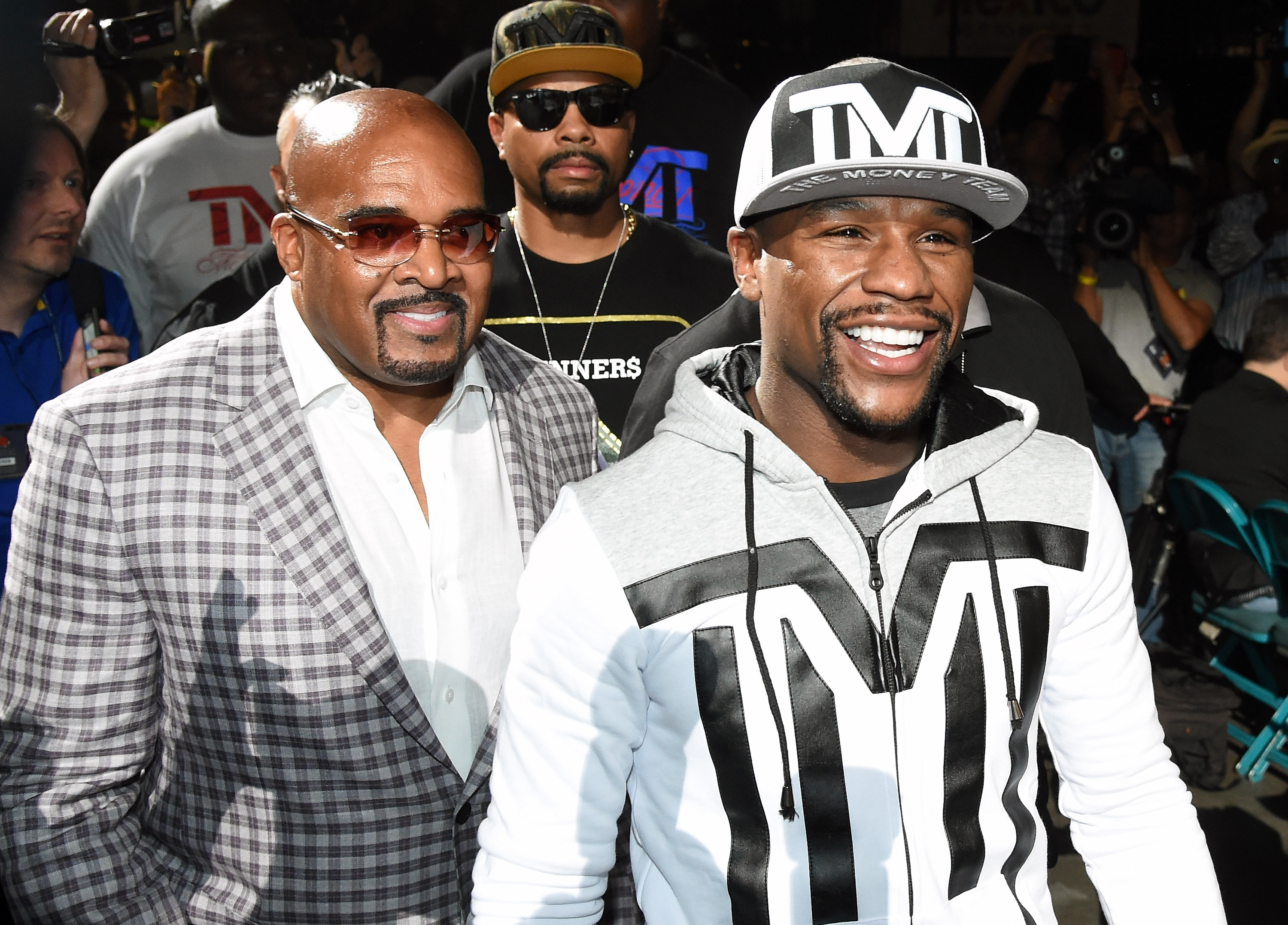 Floyd Mayweather Jr. v Manny Pacquiao - Mayweather Arrival