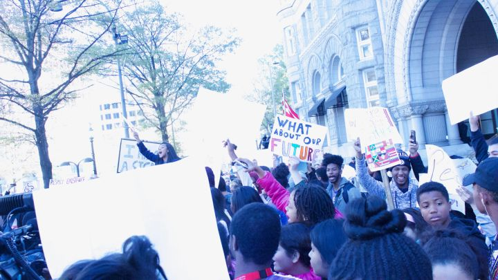 EZ Street at the DCPS Donald Trump Protest