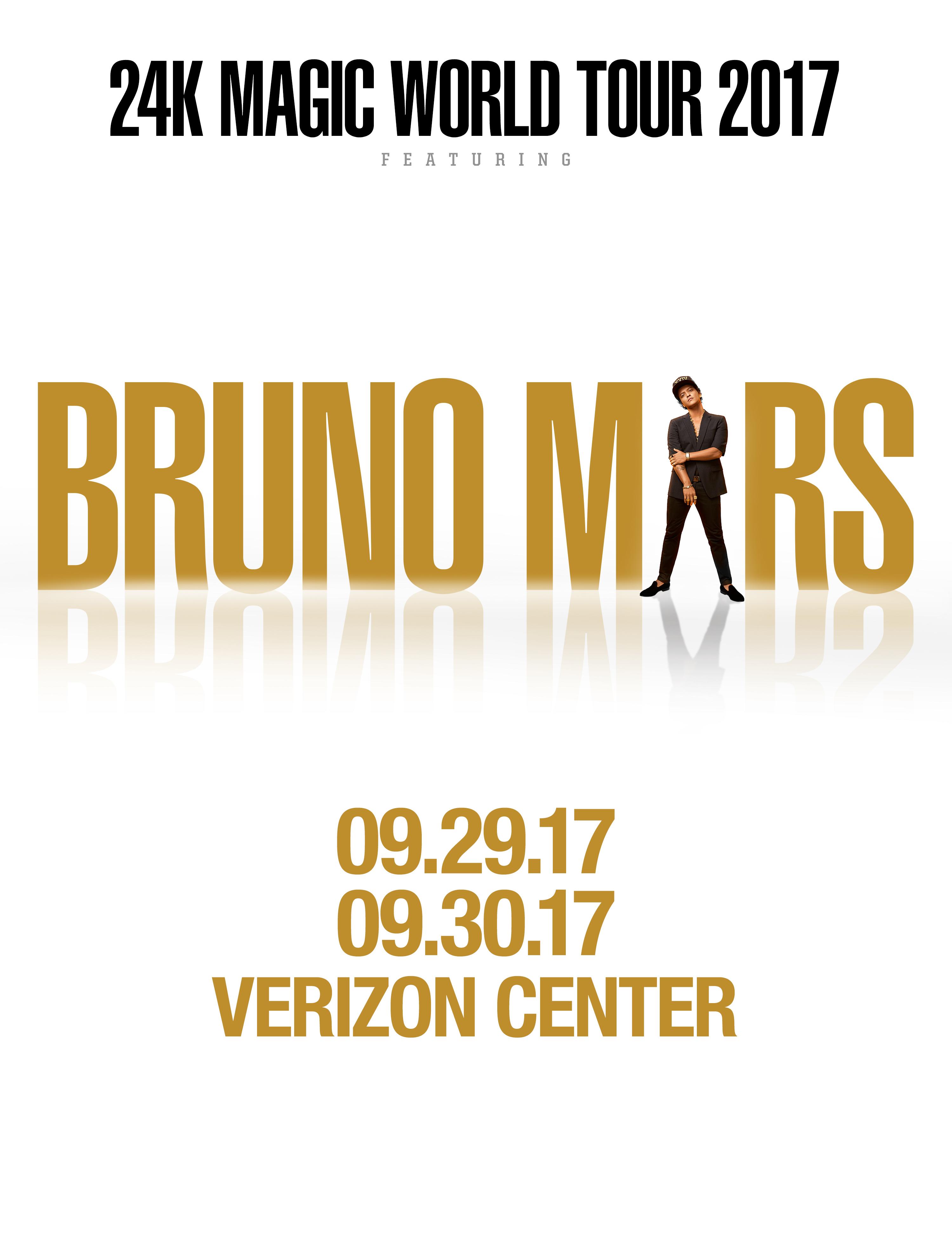 Bruno Mars 24K Magic World Tour Graphic