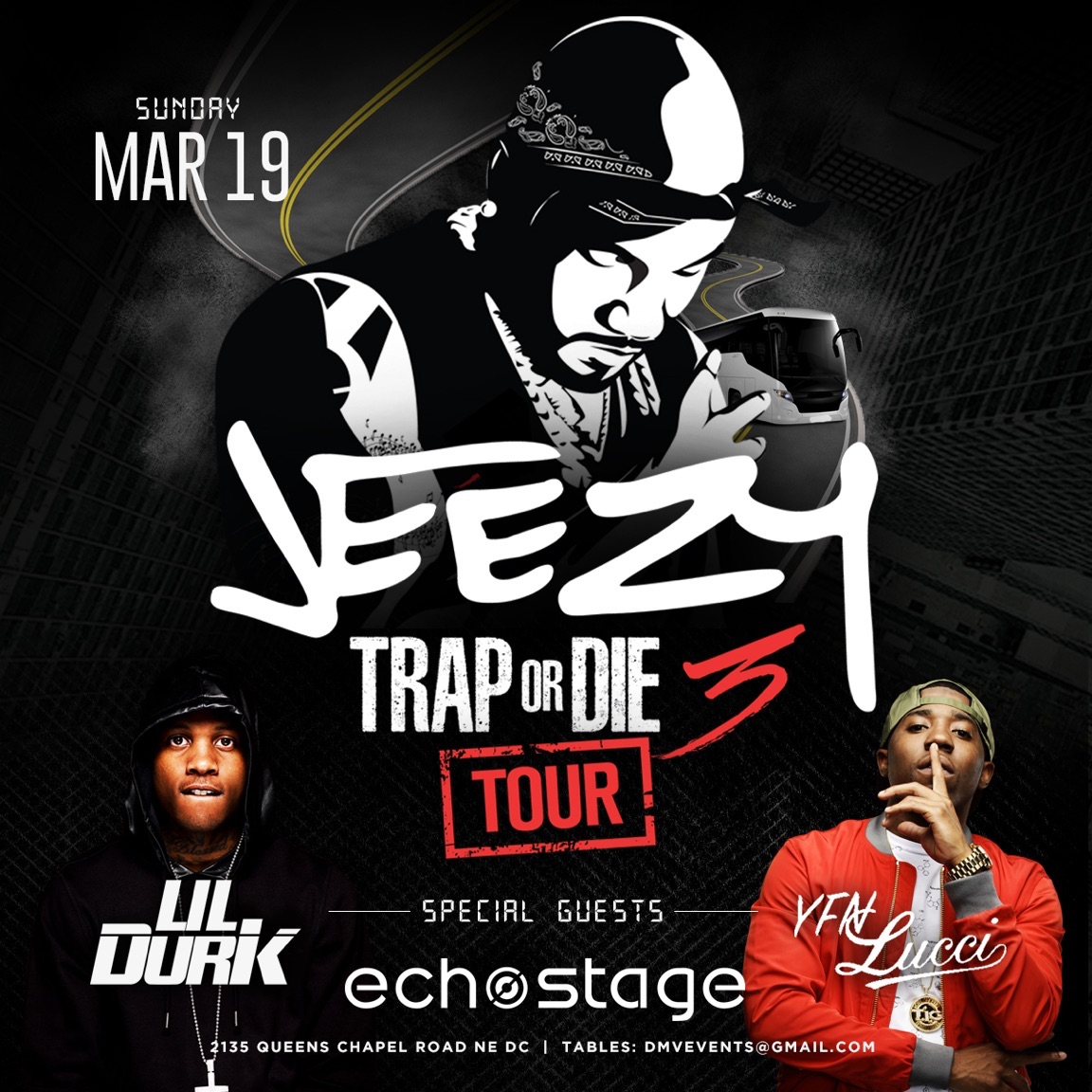 93.9 WKYS Presents The Trap Or Die 3 Tour With Young Jeezy, Lil Durk & YFN Lucci