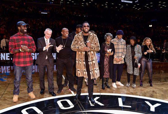 Celebrities Attend New York Knicks Vs. Brooklyn Nets