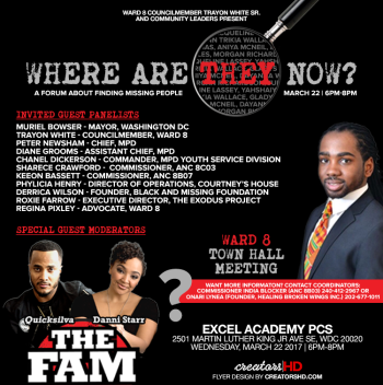 Where Are They Now Town Hall Meeting Flyer