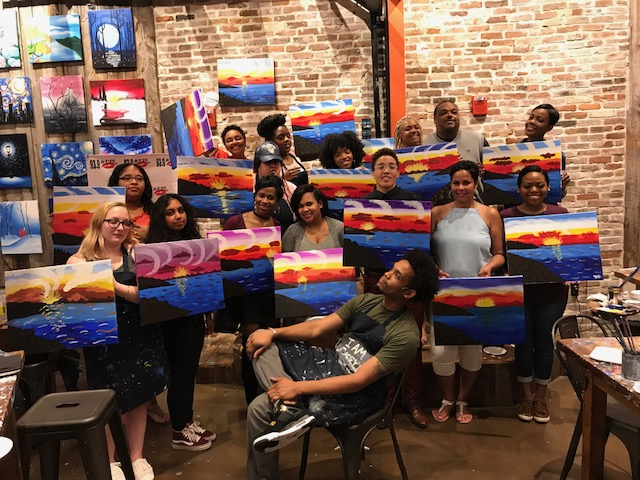 Omarion Hosts Sip & Paint At Muse Paintbar