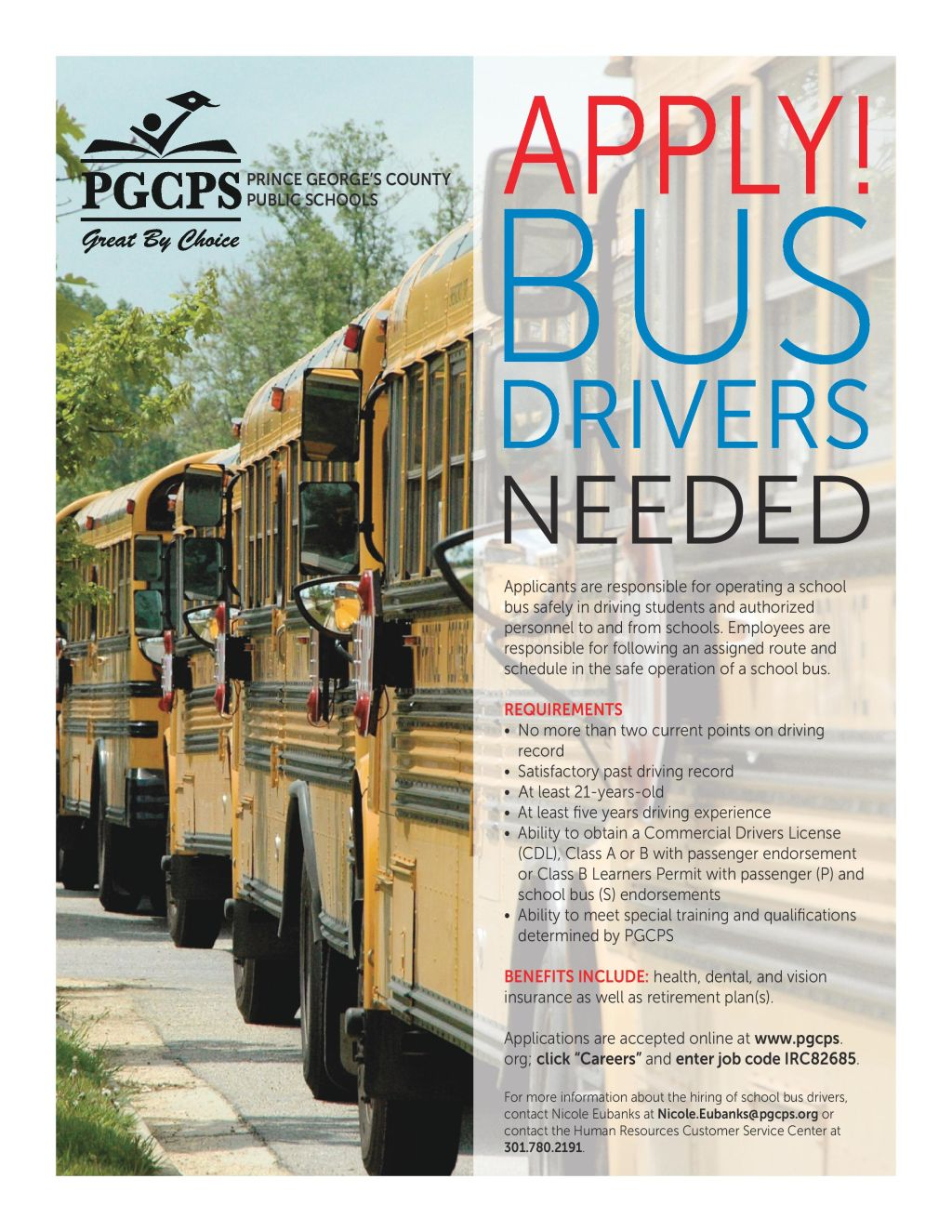 Prince Georges County Public Schools: Bus Drivers Needed | 93 9 WKYS
