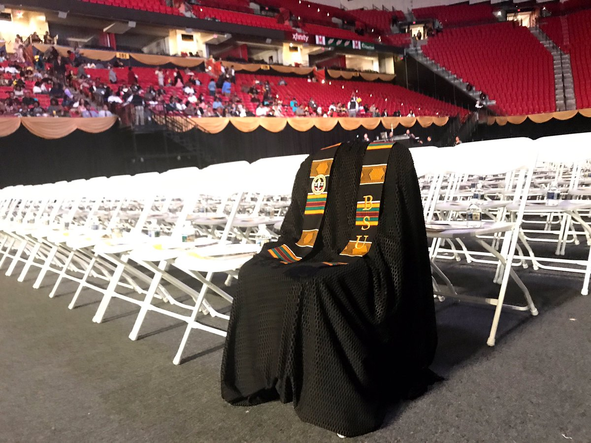 Richard Collins III's Graduation Gown at Bowie State University