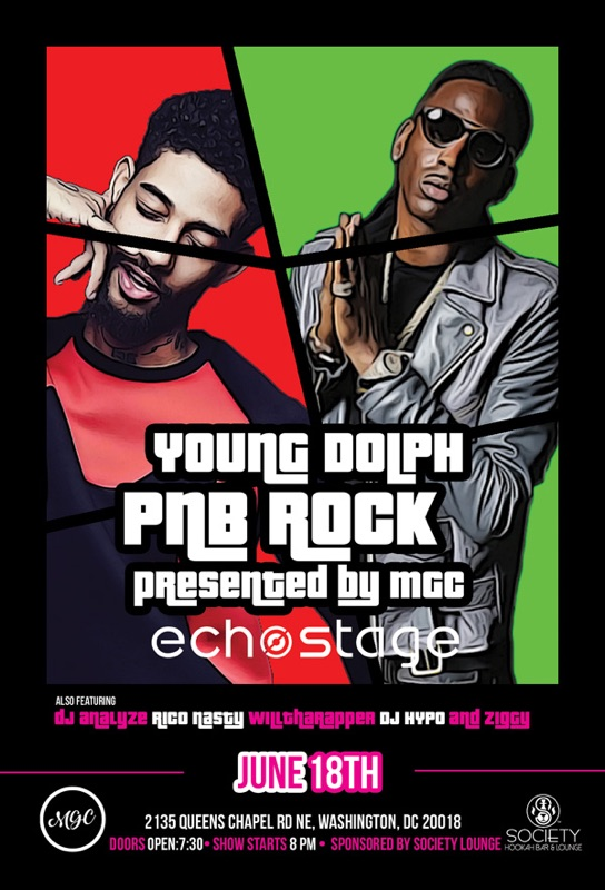 Young Dolph and PNB Rock At Echo Stage