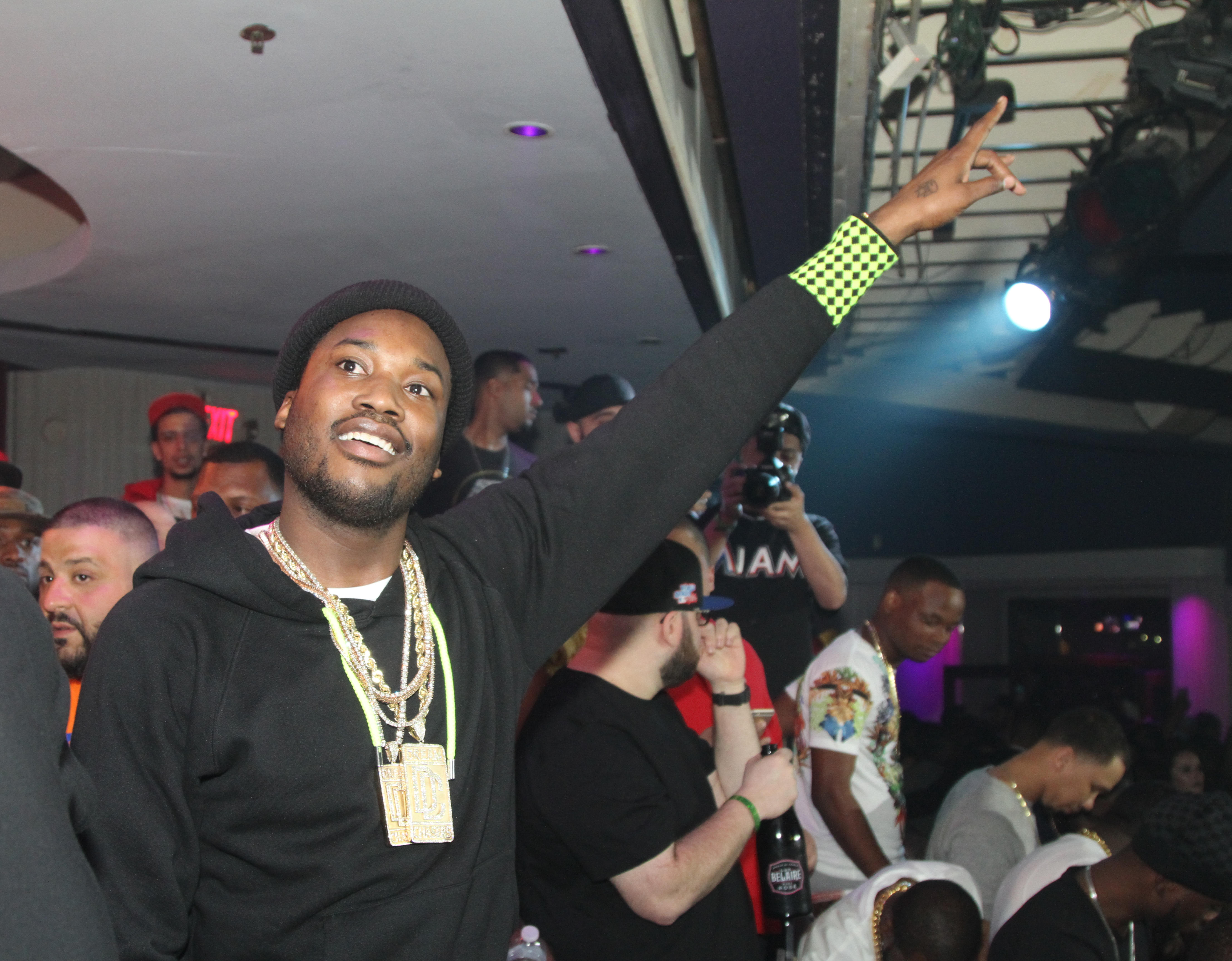 DJ Khaled & Meek Mill Perform At Cafe Iguana