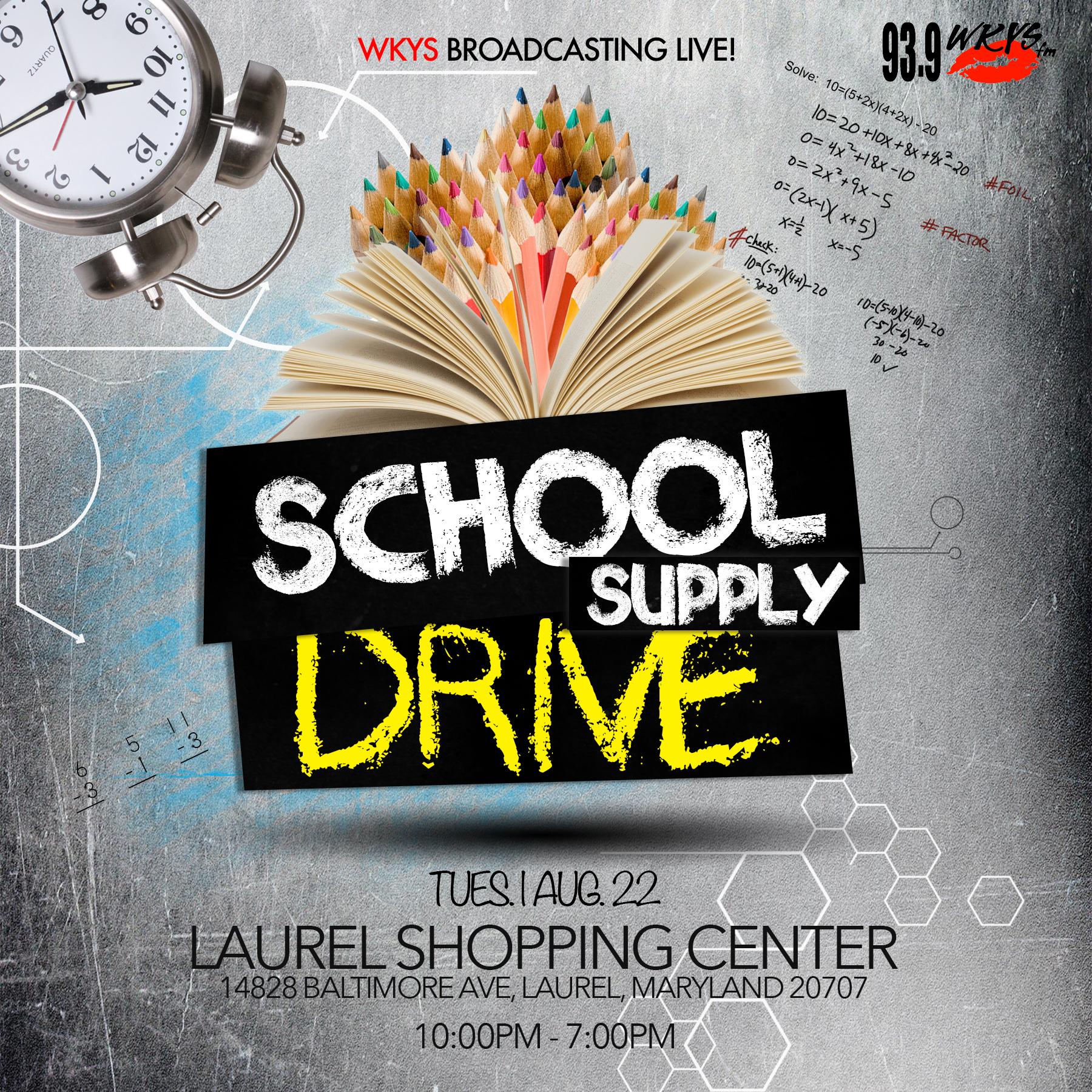 93.9 WKYS Back To School Supply Drive