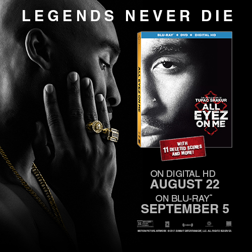 All Eyez On Me The Untold Story of Tupac Shakur Blu-ray Cover
