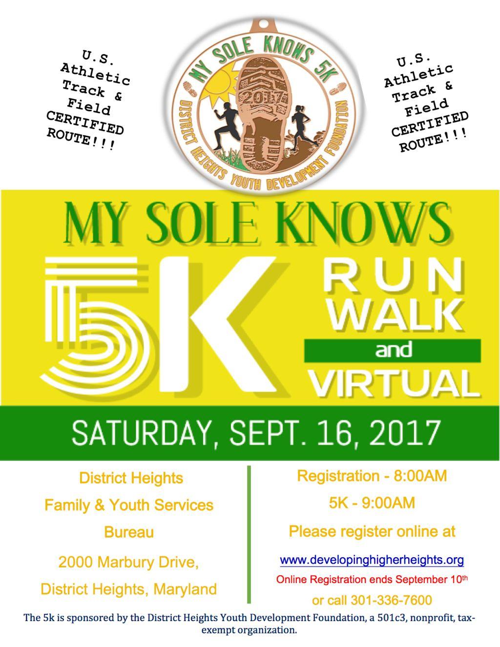 The My Sole Knows 5K Walk/Run