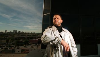 CA.Medina#1.12–17.BC/C.Record producer Benny Medina on the balcony of his Miracle Mile office after
