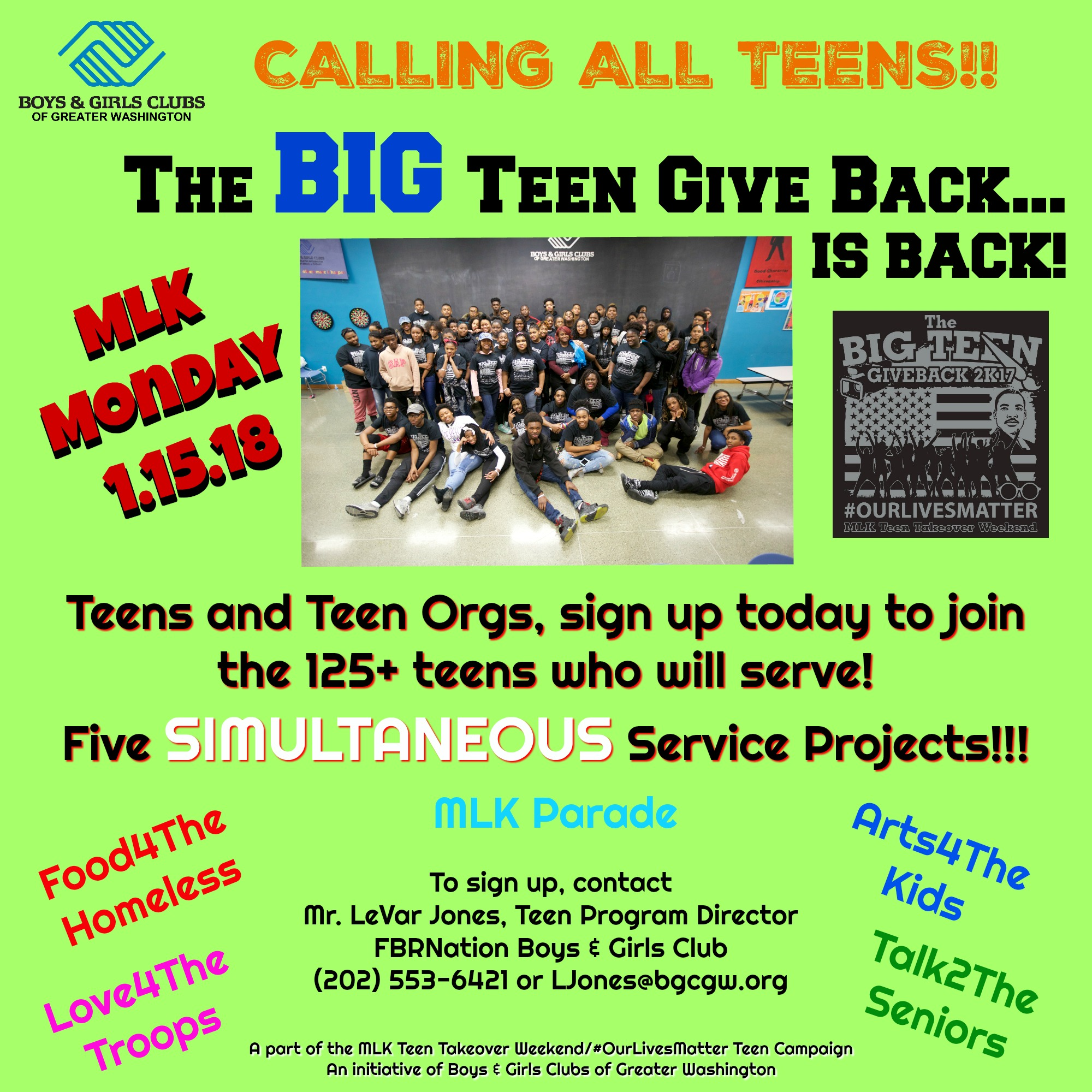 The Big Teen Give Back