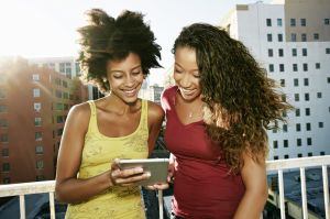 Women on Tablet