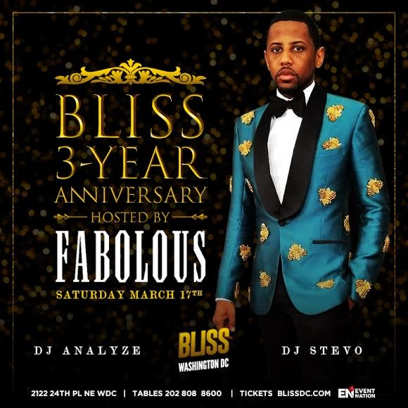 Bliss 3-Year Anniversary Hosted By Fabolous