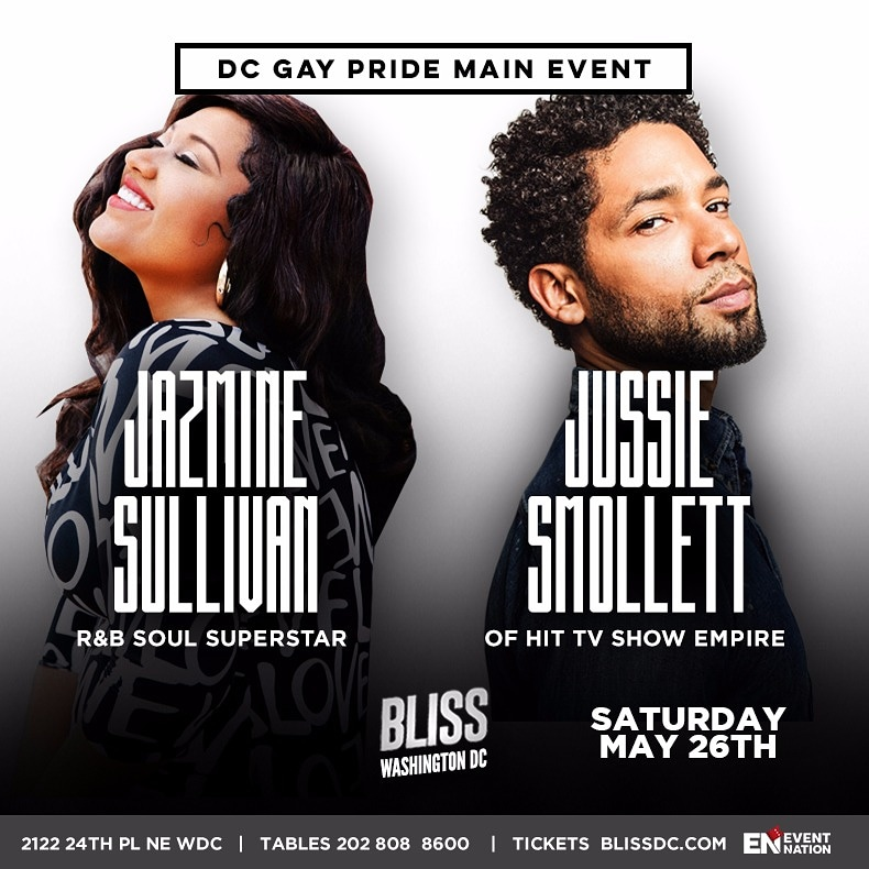Jazmine Sullivan and Jussie Smollett Live at Bliss for the DC Gay Pride Main Event!
