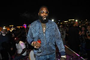 Rick Ross Gives Surprise performance as APEX Social Club celebrates their grand opening weekend with host Travis Barker at Palms Casino Resort