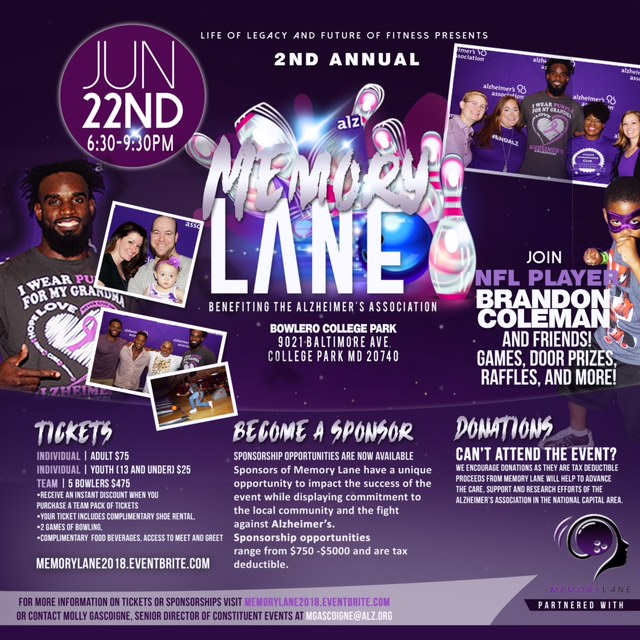 Life Of Legacy & Future Of Fitness Presents The 2nd Annual Memory Lane Bowling Event