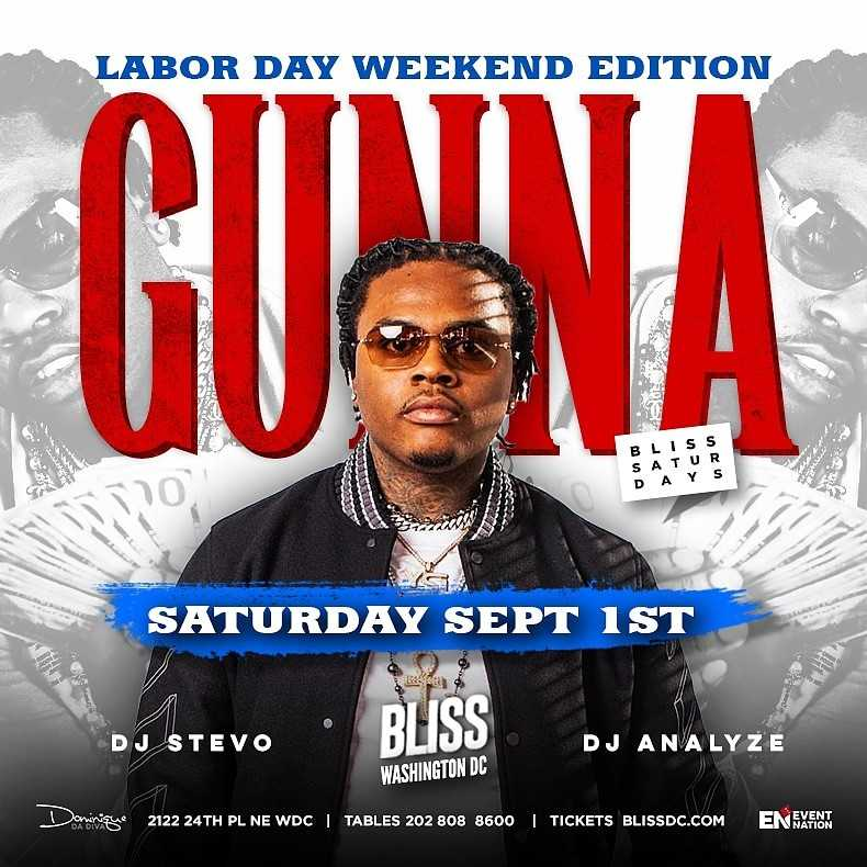 Gunna at Bliss Nightclub