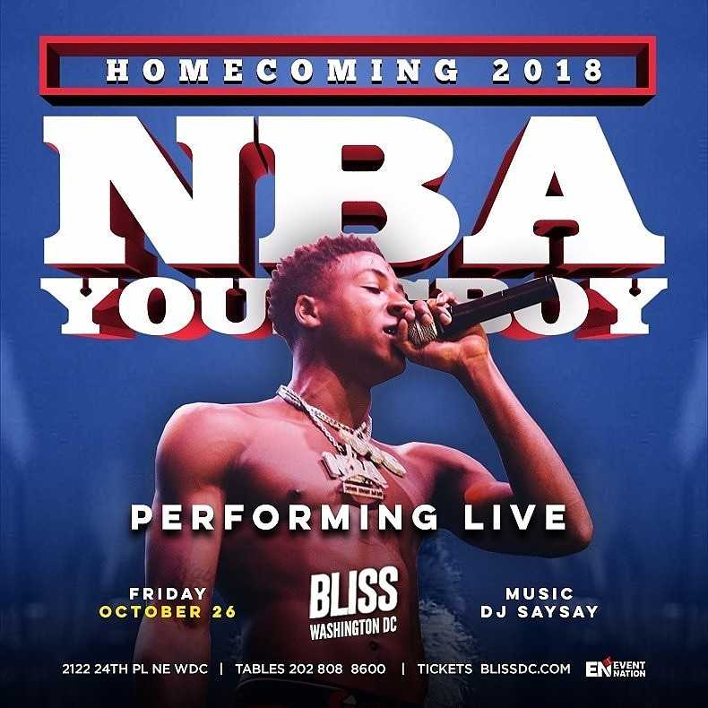 NBA Youngboy Howard Homecoming at Bliss Nightclub
