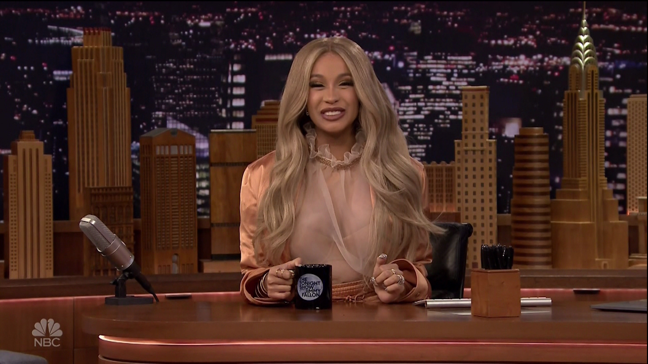 Cardi B during an appearance on NBC's 'The Tonight Show Starring Jimmy Fallon.'
