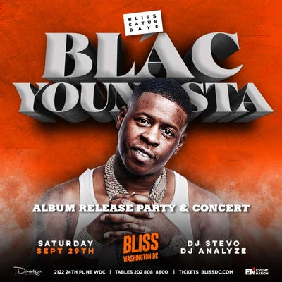 Blac Youngsta at Bliss Nightclub