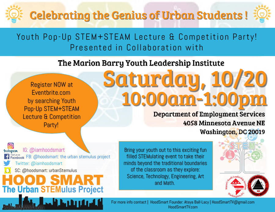 Free Youth Pop-Up Stem+Steam Lecture & Competition Party!