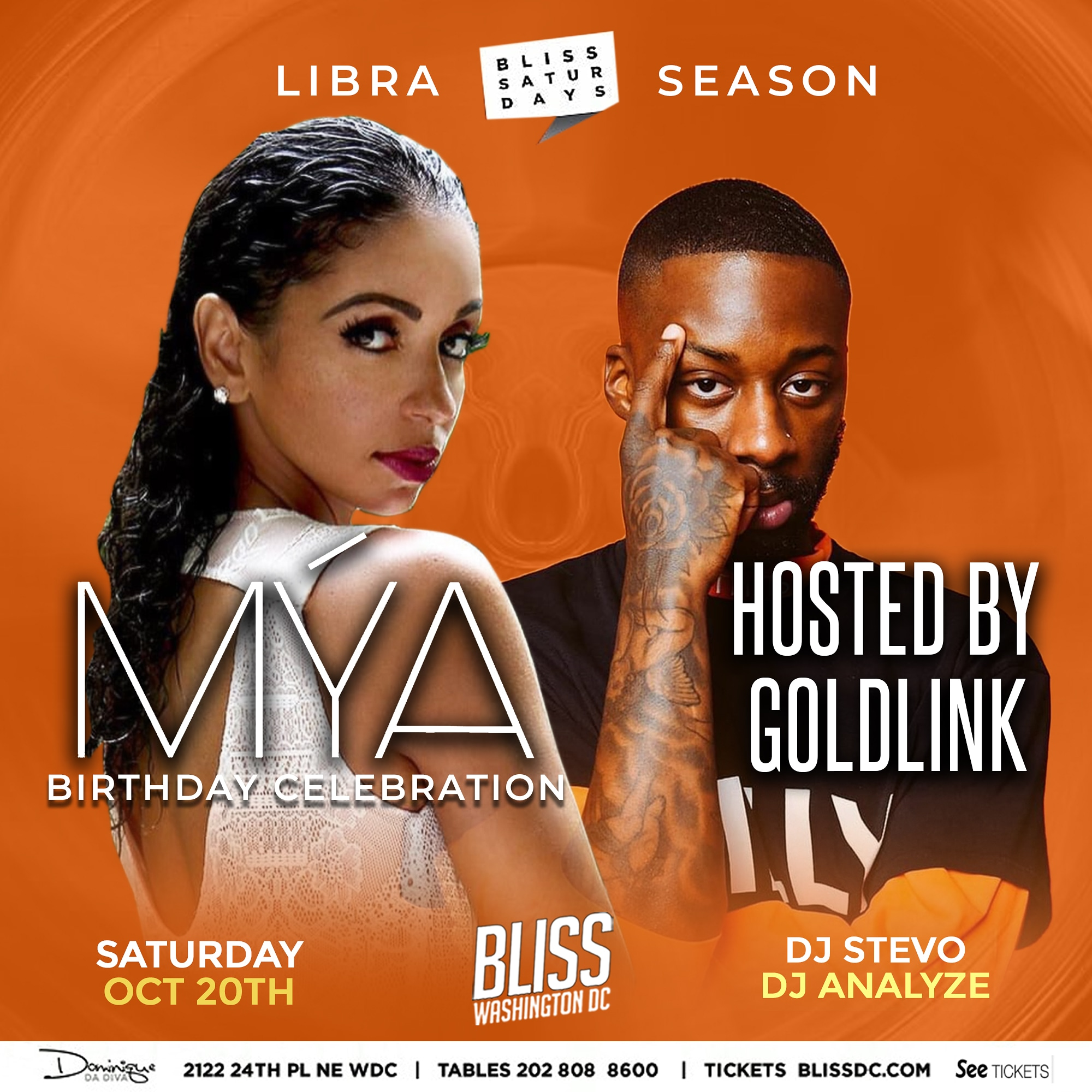 Mya Oct 20th at Bliss Nightclub