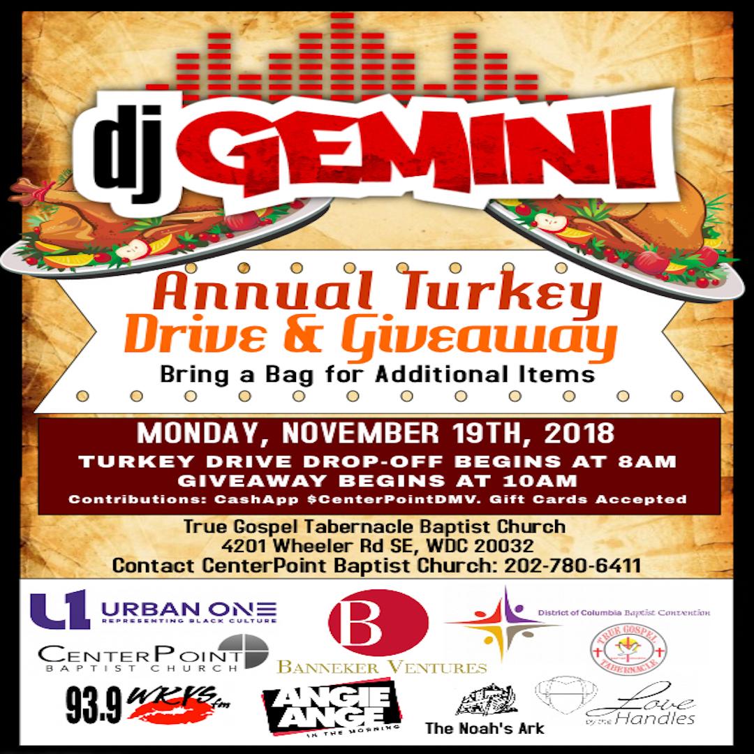 DJ Gemini Turkey Giveaway