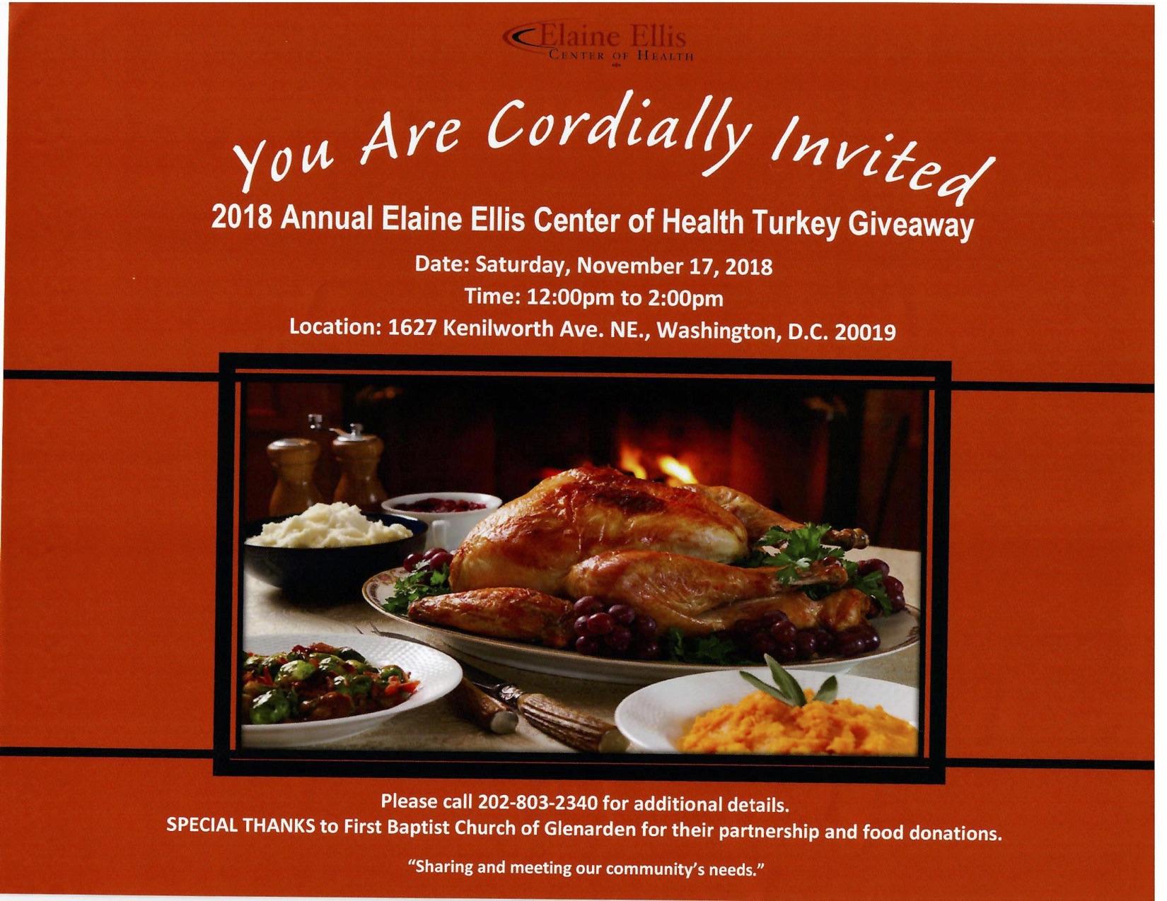Elaine Ellis Center of Health Turkey Giveaway