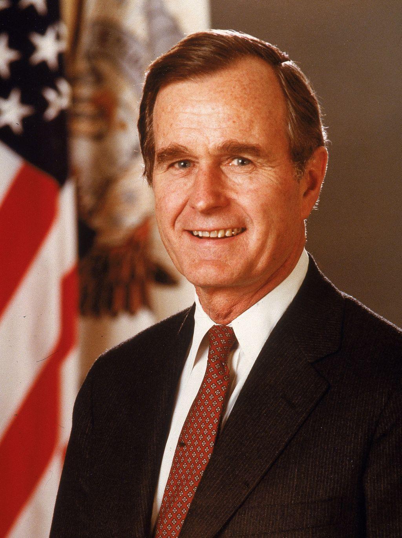 Porrtrait Of President George Bush, c. 1989.