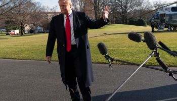 President Trump Returns To The White House After Day Trip To Camp David