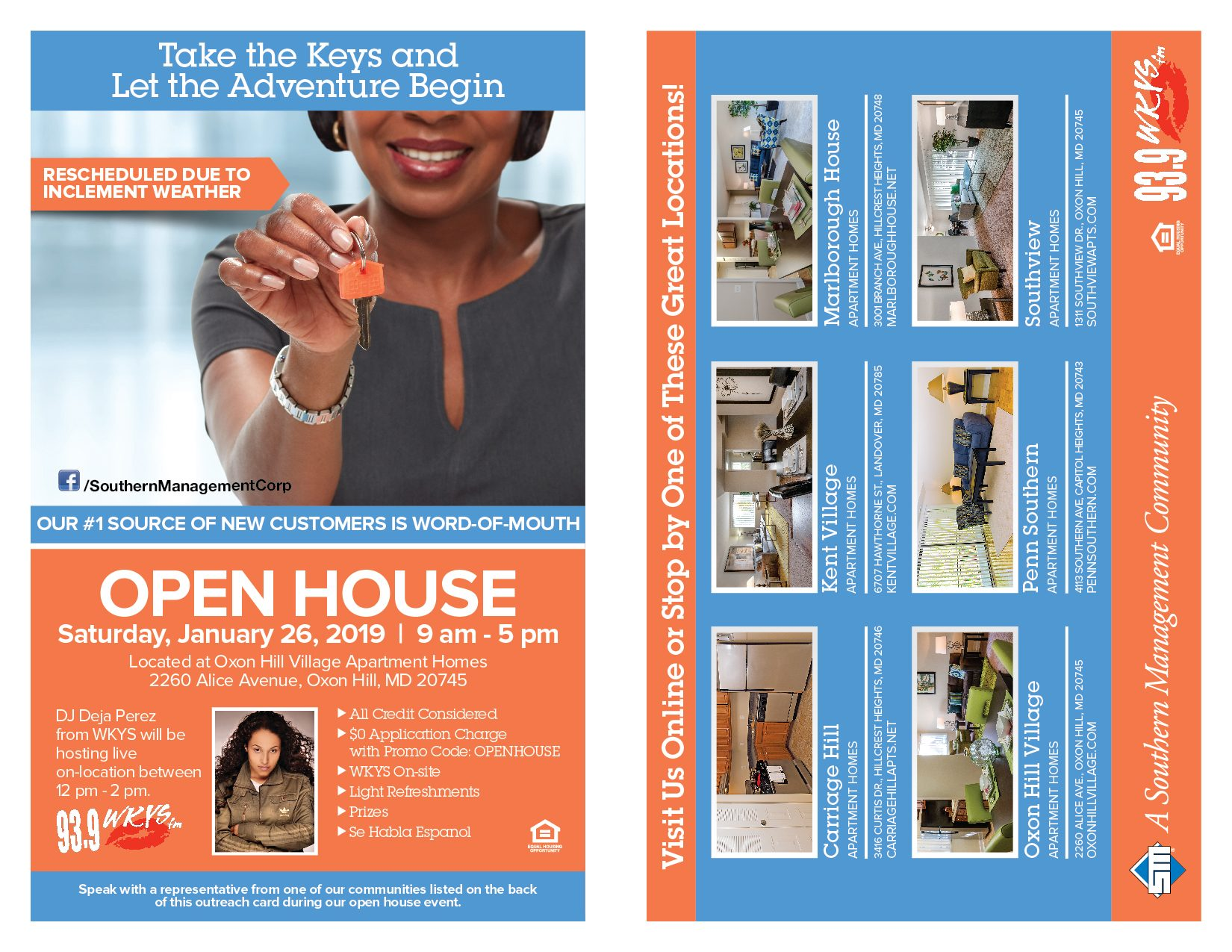 Southern Management Open House With Deja Perez
