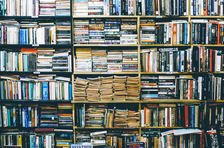 Full Frame Shot Of Bookshelf