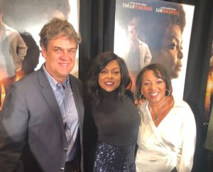 "Taraji P. Henson on Red Carpet for ""The Best of Enemies"" with Director, Robin Bissell and Producer, Dominique Telson"