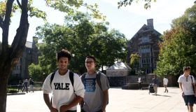 Students On Campus Of Yale University Watch Senate Hearing With Supreme Court Nominee Brett Kavanaugh And Dr. Christine Blasey Ford