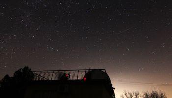 Astronomers observe the Gemenids meteor shower