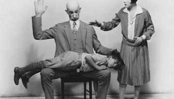 Joe Murphy, Fay Tincher and Jackie Morgan as the Gumps