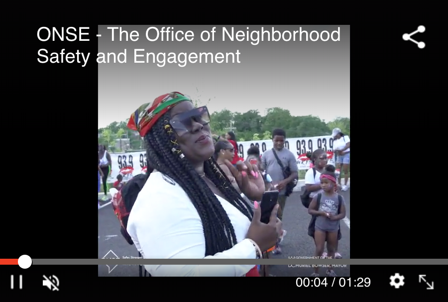 ONSE Office of Neighborhood Safety and Engagement