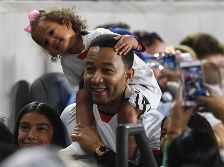 John Legend and daughter Luna