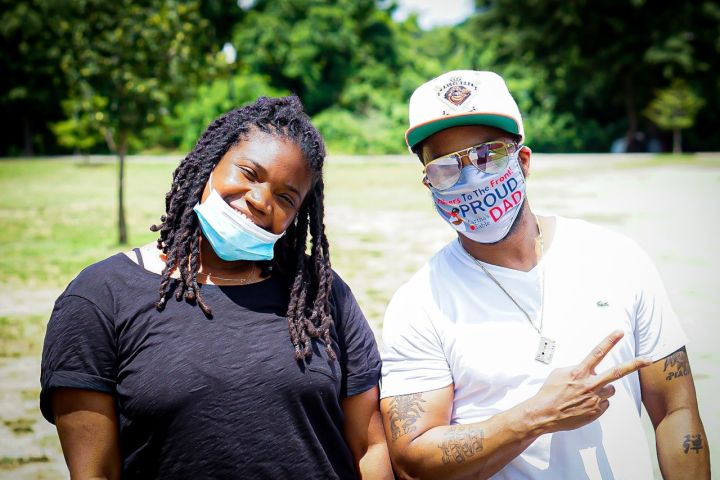 """Angie Ange Joins The QuickSilva Show With Dominique Da Diva """"In The Streets"""" Feeding The Community"""