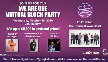 We Are One Virtual Block Party Presented by the DC Lottery